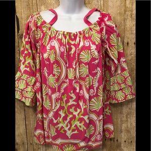 Pink Crown & Ivy off shoulder blouse